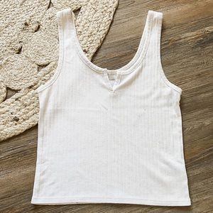 American Eagle Outfitters Ribbed Tank Top Size Small